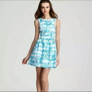 Lilly Pulitzer Sandrine Shirley Blue Pearls Dress